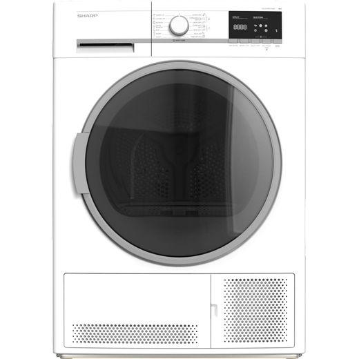 Sharp KD-GCB9S7GW9-EN 9Kg Condenser Tumble Dryer - White - B Rated