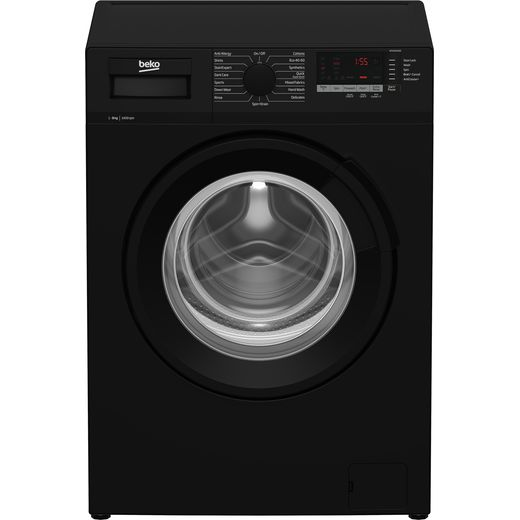 Beko WTL84151B 8Kg Washing Machine with 1400 rpm - Black - A+++ Rated