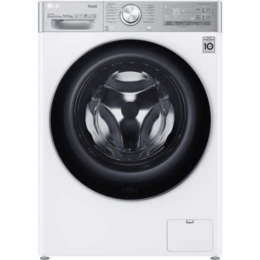 LG V11 F6V1110WTSA Wifi Connected 10.5Kg Washing Machine with 1600 rpm - White - A Rated