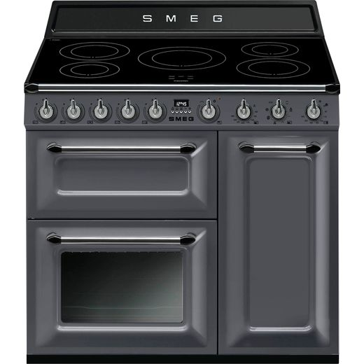 Smeg Victoria TR93IGR 90cm Electric Range Cooker with Induction Hob - Grey - A/B Rated