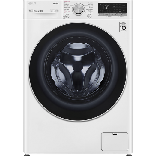 LG V6 FWV696WSE Wifi Connected 9Kg / 6Kg Washer Dryer with 1400 rpm - White - B Rated