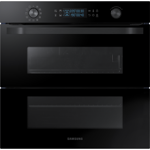 Samsung Prezio Dual Cook Flex NV75N5641RB Built In Electric Single Oven - Black Glass - A+ Rated