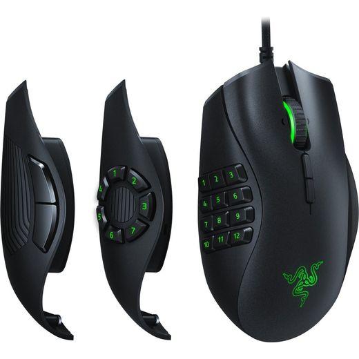 Razer Naga Trinity Wired USB Optical Mouse - Black