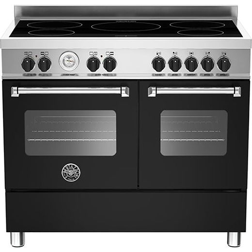 Bertazzoni Master Series MAS100-5I-MFE-D-NEE 100cm Electric Range Cooker with Induction Hob - Matte Black - A/A Rated
