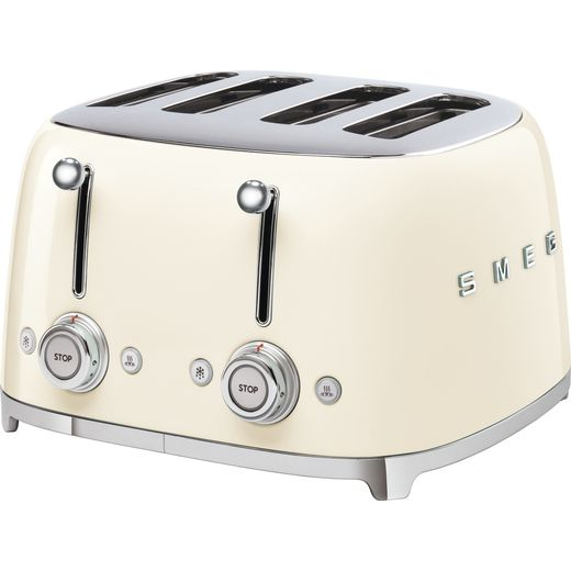 Smeg 50's Retro TSF03CRUK 4 Slice Toaster - Cream