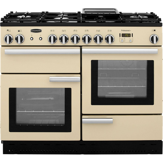 Rangemaster Professional Plus PROP110NGFCR/C 110cm Gas Range Cooker - Cream / Chrome - A+/A+ Rated
