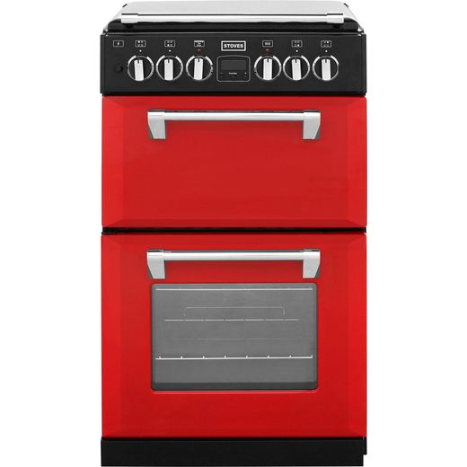 Stoves Mini Range RICHMOND550DFW 55cm Dual Fuel Cooker - Hot Jalapeno - A Rated