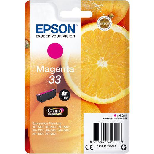 Epson Orange Singlepack Magenta 33 Claria Premium Ink