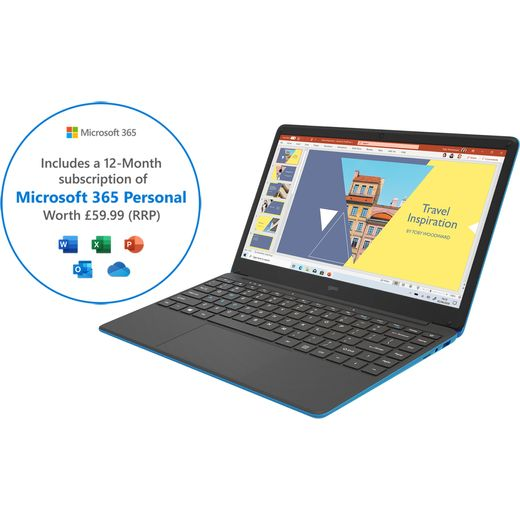 """GEO GeoBook 140 Minecraft Edition 14.1"""" Includes Microsoft 365 Personal 12-month subscription with 1TB Cloud Storage [2021] Laptop - Blue"""