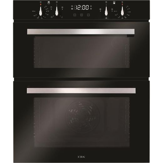 CDA DC741BL Built Under Electric Double Oven - Black