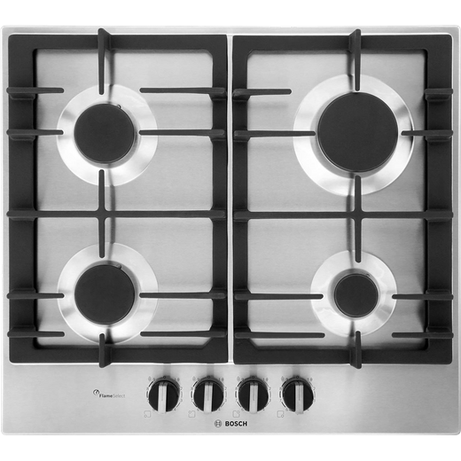 Bosch Serie 6 PCP6A5B90 Built In Gas Hob - Stainless Steel