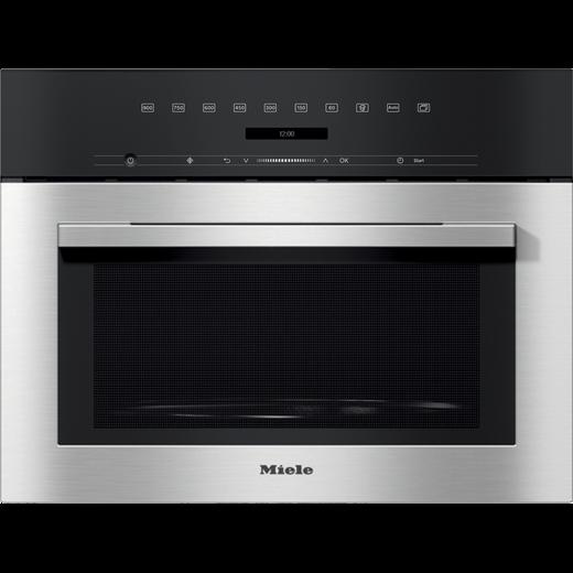 Miele M7140TC Built In Microwave - Clean Steel
