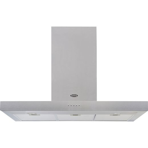 Belling COOKCENTRE 90 FLAT 90 cm Chimney Cooker Hood - Stainless Steel - D Rated
