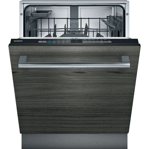 Siemens IQ-100 SN61HX02AG Wifi Connected Fully Integrated Standard Dishwasher - Black Control Panel - D Rated