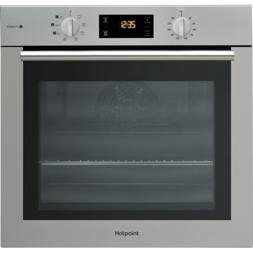 Hotpoint ActiveCook FA4S544IXH Built In Electric Single Oven with added Steam Function - Stainless Steel - A Rated