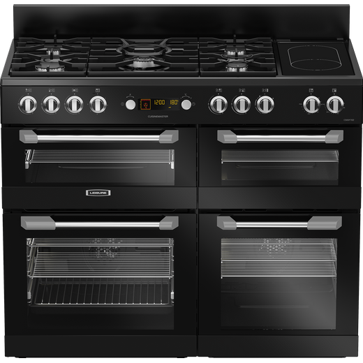 Leisure Cuisinemaster CS110F722K 110cm Dual Fuel Range Cooker - Black - A/A/A Rated