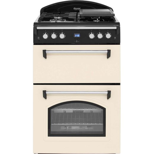 Leisure Gourmet GRB6GVC 60cm Gas Cooker with Full Width Gas Grill - Cream - A+/A Rated