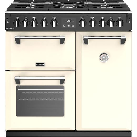 Stoves Richmond S900DF 90cm Dual Fuel Range Cooker - Cream - A/A/A Rated