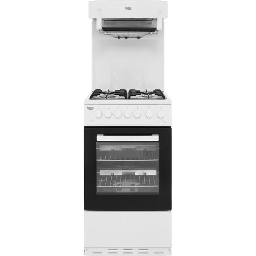 Beko KA52NEW 50cm Gas Cooker with Full Width Gas Grill - White - A Rated