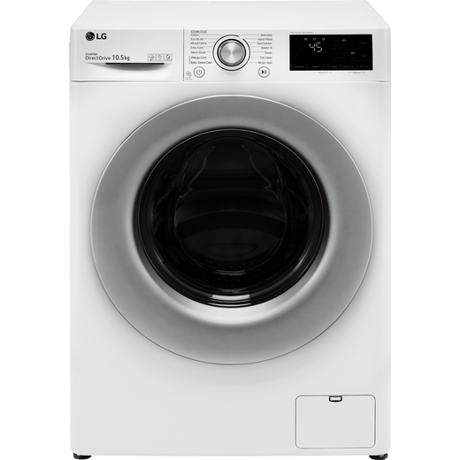 LG V3 F4V310WSE 10Kg Washing Machine with 1400 rpm - White - B Rated
