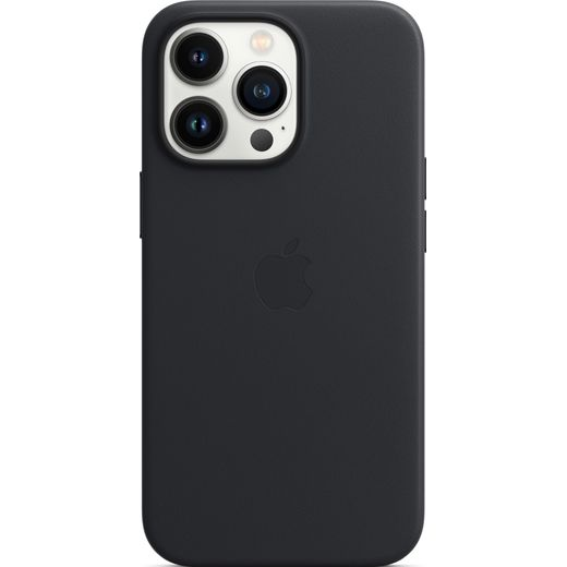 Apple Leather Case with Magsafe for iPhone 13 Pro - Midnight