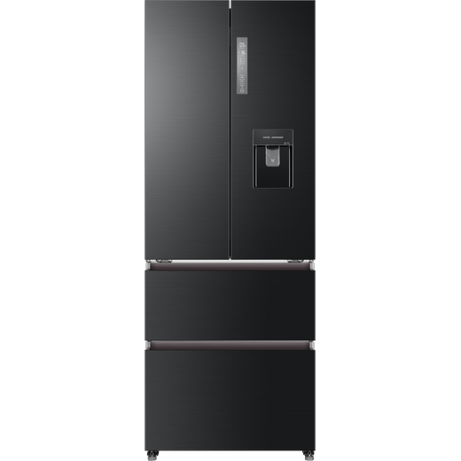 Haier HB16WSNAA American Fridge Freezer - Black / Stainless Steel - F Rated