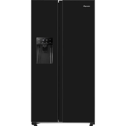 Fridgemaster MS91500IFB American Fridge Freezer - Black - F Rated