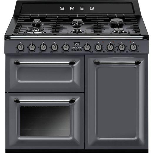 Smeg Victoria TR103GR 100cm Dual Fuel Range Cooker - Slate - A/B Rated