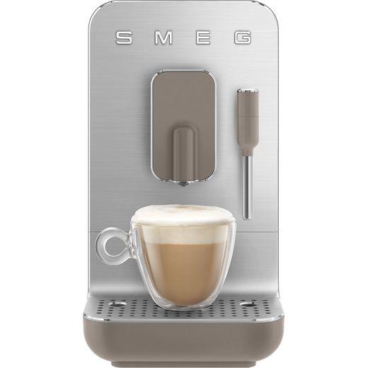 Smeg 50's Retro BCC02TPMUK Espresso Coffee Machine - Taupe