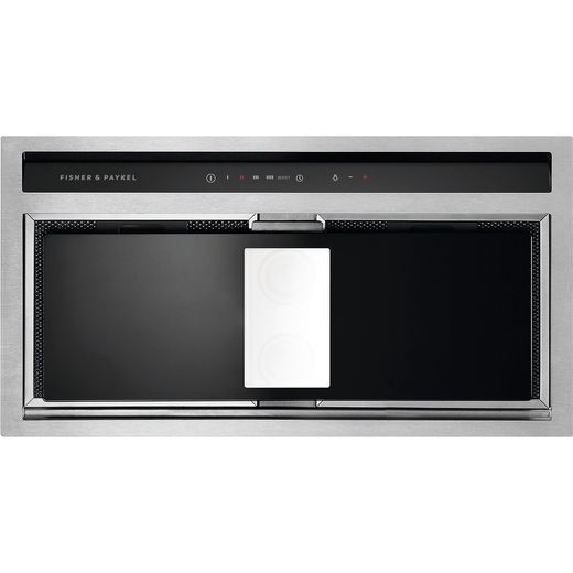 Fisher & Paykel Designer HP60IHCB3 60 cm Integrated Cooker Hood - Black / Stainless Steel - A Rated