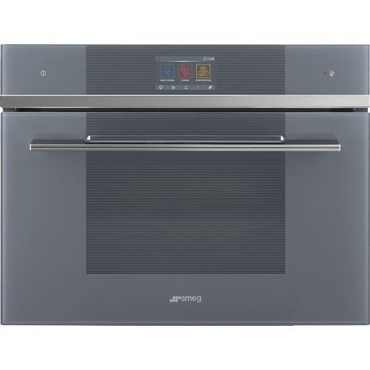 Smeg Linea SF4104WVCPS Wifi Connected Built In Compact Electric Single Oven with added Steam Function - Silver - A+ Rated