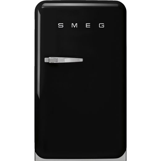 Smeg Right Hand Hinge FAB10RBL5 Fridge with Ice Box - Black - E Rated