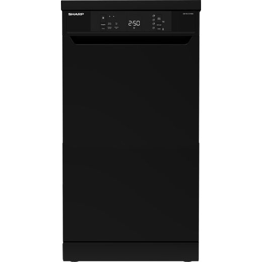 Sharp QW-NS1CF49EB-EN Slimline Dishwasher - Black - E Rated