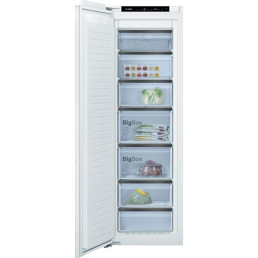 Bosch GIN81HCE0G Integrated Frost Free Upright Freezer with Fixed Door Fixing Kit - E Rated
