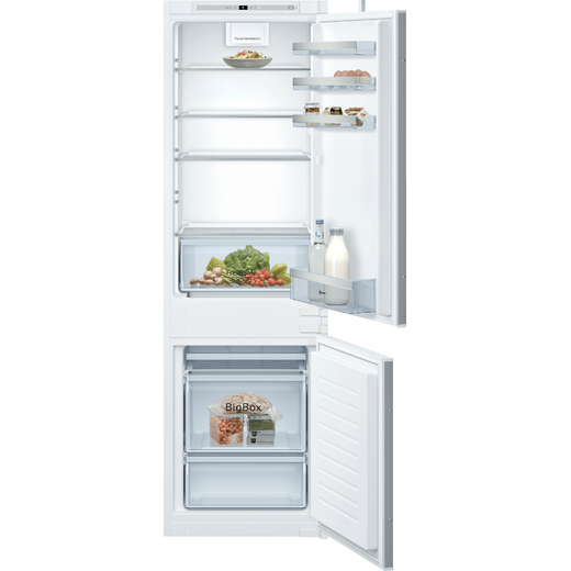 NEFF N50 KI7862SF0G Integrated 70/30 Fridge Freezer with Sliding Door Fixing Kit - White - F Rated