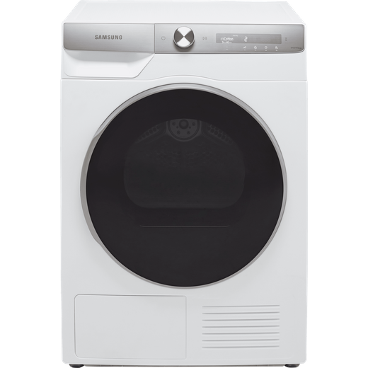 Samsung Series 9 OptimalDry™ DV90T8240SH Wifi Connected 9Kg Heat Pump Tumble Dryer - White - A+++ Rated