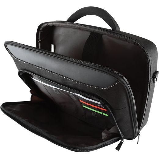 "Targus Classic+ Clamshell Bag for 18"" Laptop - Black / Red"