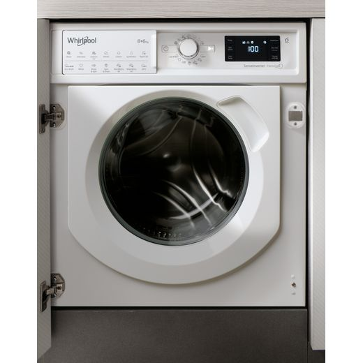 Whirlpool BIWDWG861484UK Integrated 8Kg / 6Kg Washer Dryer with 1400 rpm - White - D Rated