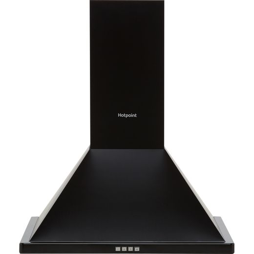 Hotpoint PHPN6.4FLMK 60 cm Chimney Cooker Hood - Black - C Rated