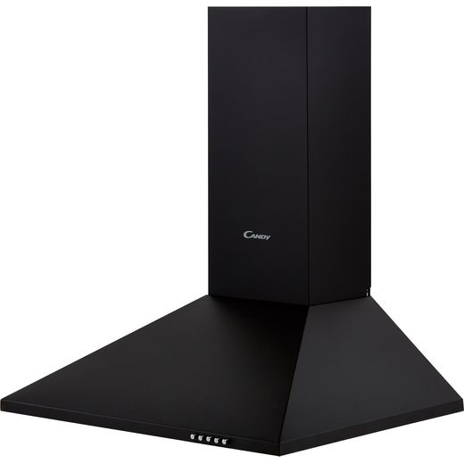 Candy CCE116/1N 60 cm Chimney Cooker Hood - Black - C Rated