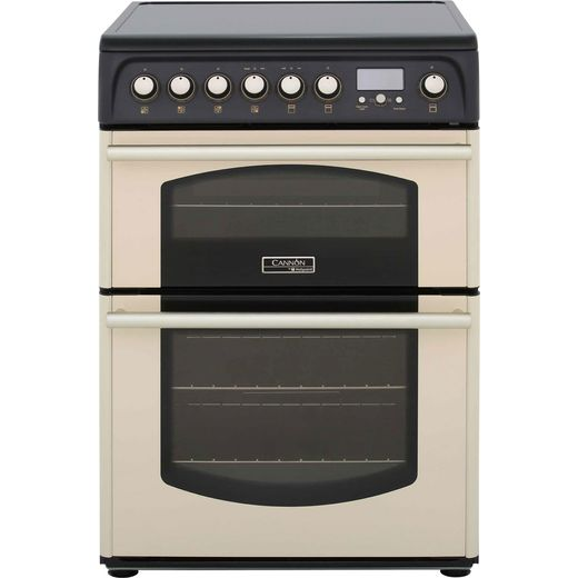 Cannon by Hotpoint Traditional CH60ETCS Electric Cooker with Ceramic Hob - Cream - B/B Rated