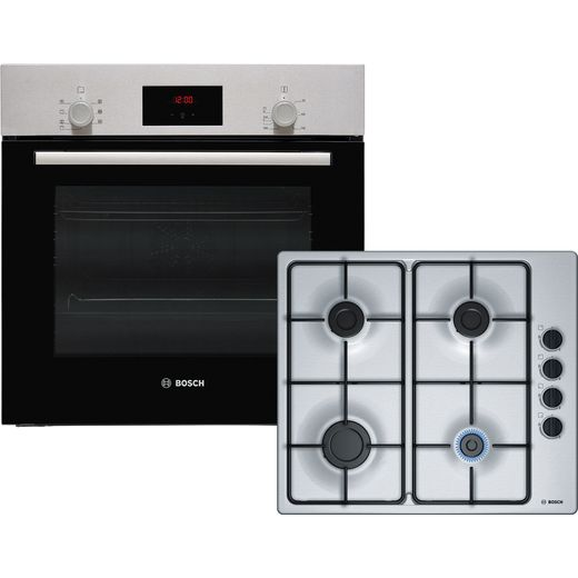 Bosch Serie 2 HBF1PBP6E2 Built In Electric Single Oven and Gas Hob Pack - Stainless Steel - A Rated