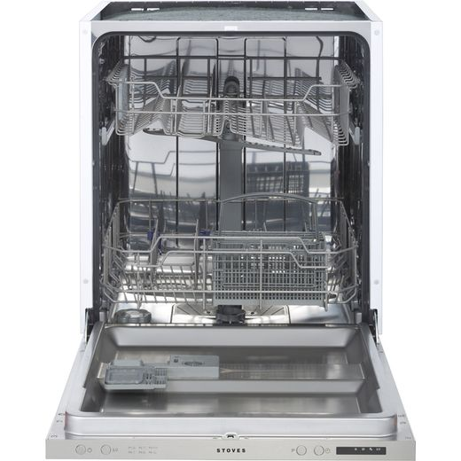Stoves SDW60 Fully Integrated Standard Dishwasher - Silver Control Panel with Fixed Door Fixing Kit - D Rated