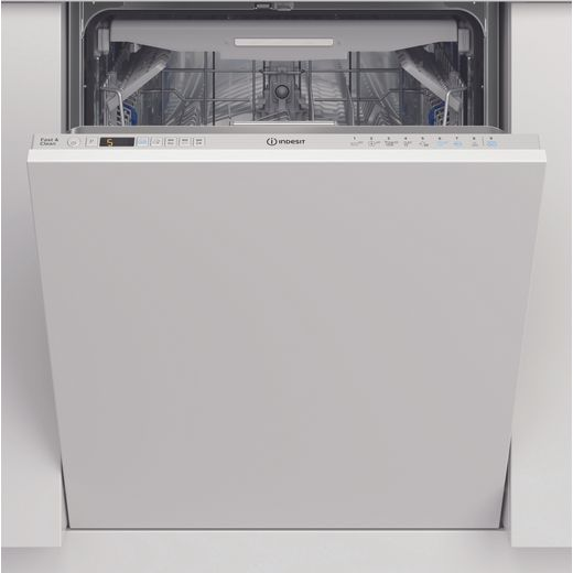 Indesit DIO3T131FEUK Fully Integrated Standard Dishwasher - White Control Panel with Fixed Door Fixing Kit - D Rated