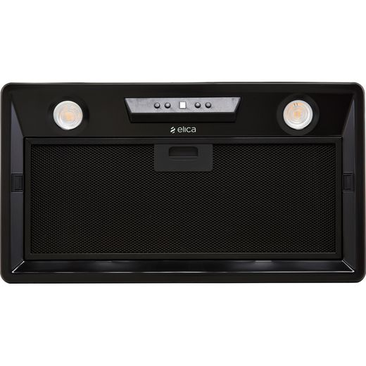Elica ELB-LUX-BLK-60 60 cm Canopy Cooker Hood - Black - C Rated
