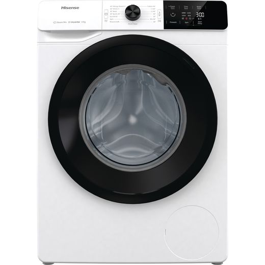 Hisense WFGE80142VM 8Kg Washing Machine with 1400 rpm - White - B Rated