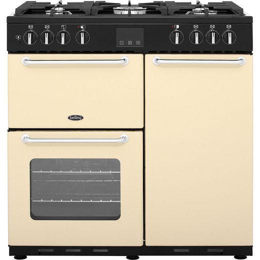 Belling SANDRINGHAM90DFT 90cm Dual Fuel Range Cooker - Cream - A/A Rated