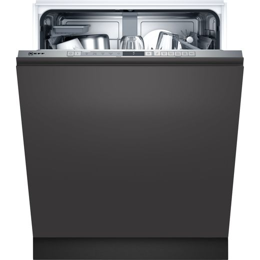 NEFF N30 S153HAX02G Wifi Connected Fully Integrated Standard Dishwasher - Stainless Steel Control Panel - D Rated