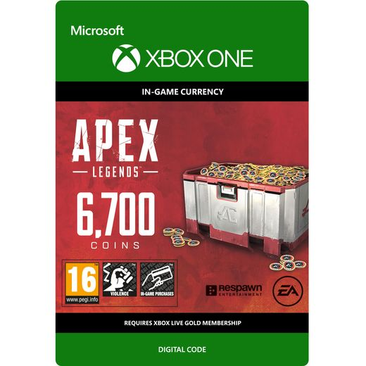 Apex Legends 6700 Coins For Xbox One Digital Download