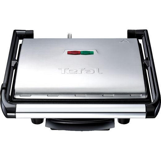 Tefal Inicio Grill GC241D40 Health Grill - Stainless Steel / Black